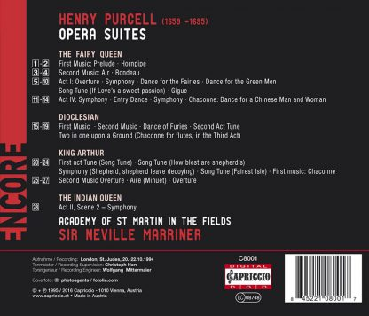 Photo No.2 of Henry Purcell: Opera Suites