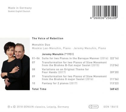 Photo No.2 of The Voice Of Rebellion - Piano Duo Works By Jeremy Menuhin
