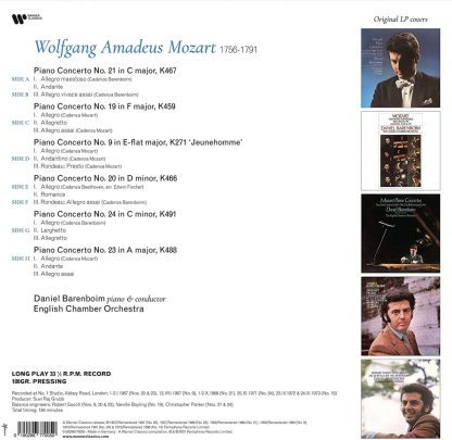 Photo No.2 of Wolfgang Amadeus Mozart: Piano Concertos Nos. 9, 19, 20, 21, 23 & 24 (Vinyl Edition 180g)