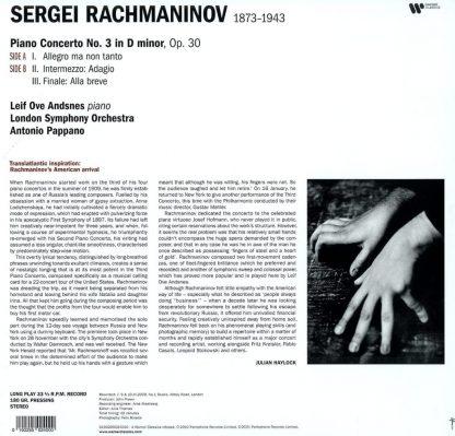 Photo No.2 of Rachmaninov: Piano Concerto No. 3 - Vinyl Edition (180g)