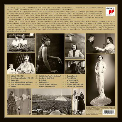 Photo No.2 of Marian Anderson - Beyond the Music (Her Complete RCA Victor Recordings)