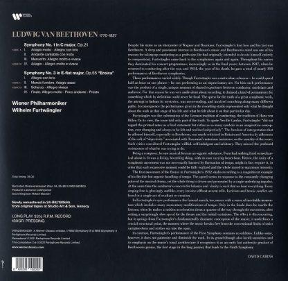 Photo No.2 of Ludwig van Beethoven: Symphony Nos. 1 & 3 'Eroica' - Vinyl Edition (180g)