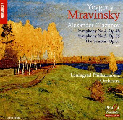 Photo No.1 of Yevgeny Mravinsky conducts Glazunov: Symphonies Nos. 4 & 5, The Seasons
