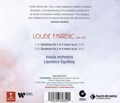 Photo No.2 of Louise Farrenc: Symphonies Nos. 1 & 3