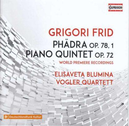 Photo No.1 of Grigori Frid: Phädra & Piano Quintet