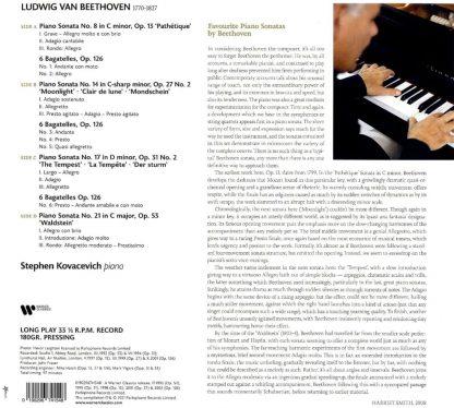 Photo No.2 of Ludwig van Beethoven: Piano Sonatas - Vinyl Edition (180g)