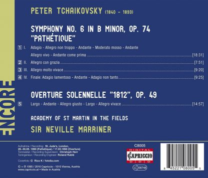 """Photo No.2 of Tchaikovsky: Symphony No. 6, Overture Solennelle """"1812"""""""