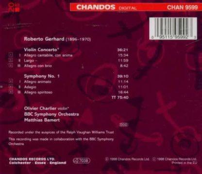 Photo No.2 of Robert Gerhard: Violin Concerto & Symphony No. 1