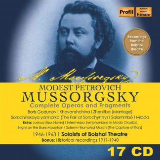 Photo No.1 of Modest P.Mussorgsky: Complete Operas and Fragment