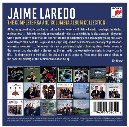 Photo No.2 of Jaime Laredo - The Complete RCA & Columbia Album Collection