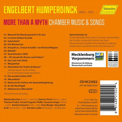 Photo No.2 of More than a Myth - Chamber Music & Songs by Engelbert Humperdinck