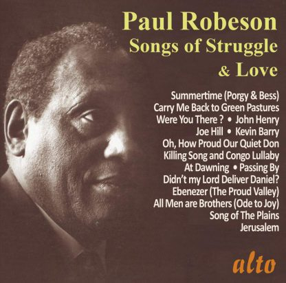 Photo No.1 of Paul Robeson: Songs of Struggle & Love (Very Best of …Volume II – 29 tracks)