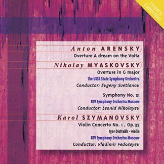 Photo No.1 of Arensky, Miaskovsky and Szymanovsky: Orchestral Works
