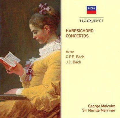 Photo No.1 of Arne, CPE Bach & JC Bach: Harpsichord Concertos