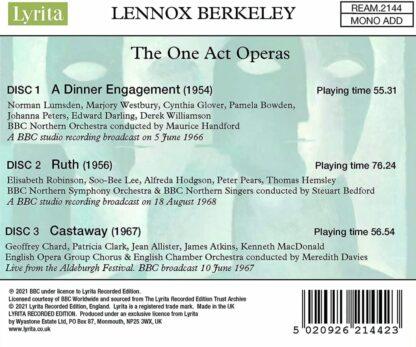 Photo No.2 of Lennox Berkeley: The One Act Operas