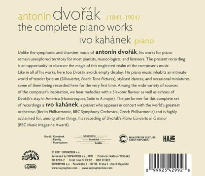 Photo No.2 of Antonin Dvořák: The Complete Piano Works