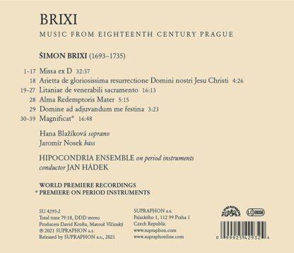 Photo No.2 of Šimon Brixi: Magnificat (Music from Eighteenth-Century Prague)
