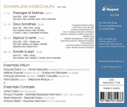 Photo No.2 of Charles Koechlin: Works for ensembles