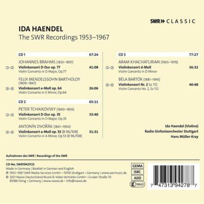 Photo No.2 of Ida Haendel - The SWR Recordings 1953-1967