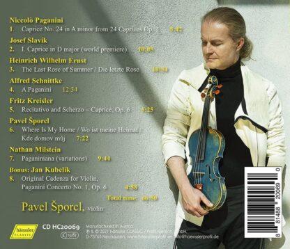 Photo No.2 of Pavel Sporcl - Paganiniana (Violin Works)