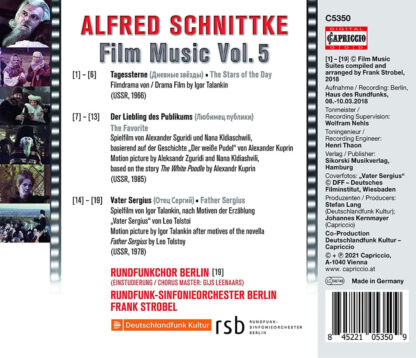 Photo No.2 of Alfred Schnittke: Film Music Vol. 5