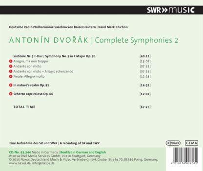 Photo No.2 of Dvorak: Complete Symphonies Vol. 2