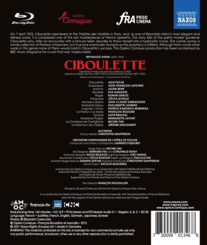 Photo No.2 of Reynaldo Hahn: Ciboulette - Operetta in three acts and four tableaux