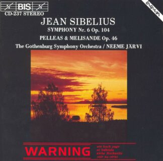 Photo No.1 of Jean Sibelius: Symphony No. 6 & Pelléas and Mélisande Suite