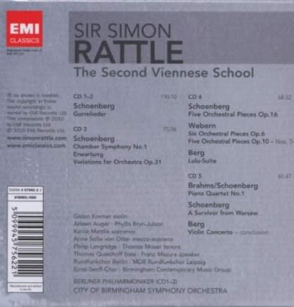 Photo No.2 of Simon Rattle - The Second Viennese School